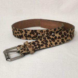Club Monaco Leopard Print Pony Hair Belt